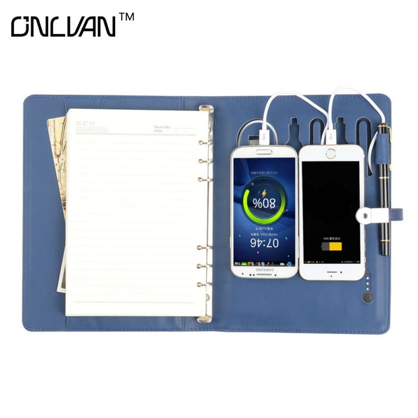 Mobile Power Notebooks 8GB Notebooks Power Bank Notebook with 6000 mAh Chancery Supplies School /Office diary  Sketchbook Gift<br>