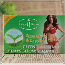 100G   Green  tea  3days   show  slimming   lost -weight   detoxify   soap