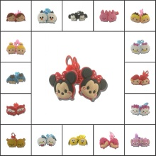 1pair Lovely TSUM Cartoon Girls Hairbands Cute Headwear Hair Accessories PVC+Elastic Bands Kid Party Gift Hair Jewelry