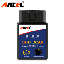 Ancel ELM327 V1.5 Universal OBD2 Bluetooth Auto Scanner Reader Tool PIC18F25K80 ELM 327 V 1.5 OBD ODBII Scan Adapter Russian New(China)