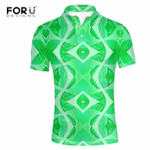 FORUDESIGNS 2017 Brand Men Fashion Polo Colorful 3D Printing Man Tommys Short Sleeved Polos Shirt For Boys Polo Homme Plus Size