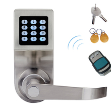 Hide Key Digital Keypad Door Lock Remote Control+Password+Card+Key Spring Bolt Smart Electronic Lock lk801SRM