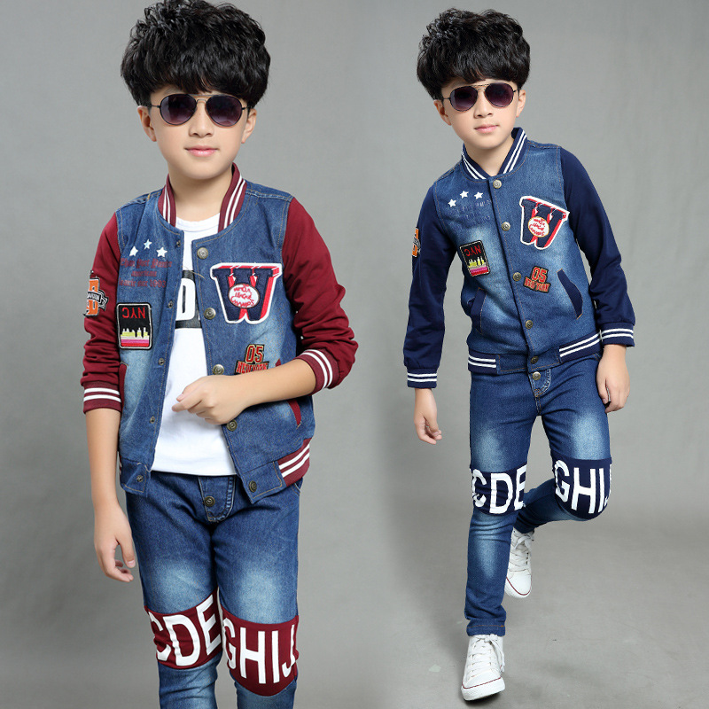 2017 new stylenanda set boy autumn clothing children  letter two-piece quality of childrens clothes clothing set<br><br>Aliexpress