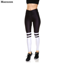 Buy Maoxzon Womens High Waist Sexy Workout Fitness Slim Leggings Trousers Female Striped Print Gymnasium Elastic Skinny Pants XS for $11.47 in AliExpress store
