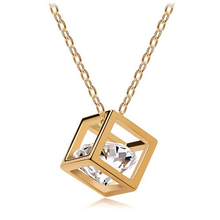Crystal jewelry wholesale Eight cubes eight heart arrow zircon necklace pendant stereo love - 135(China)