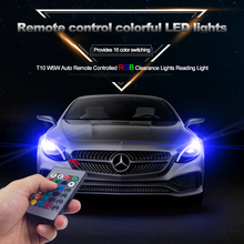 T10 W5W Auto Remote Controlled RGB colorful Reading light Decorative light Neon Light Lamp Clearance Lights daytime running ligh