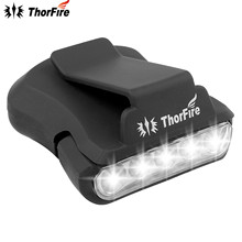 ThorFire 5 LED Headlamp Cap Light 90 Degree Rotatable Clip-on Hat Light Hands Free Bright Head Lamp Lanterna Camping Cycling(China)