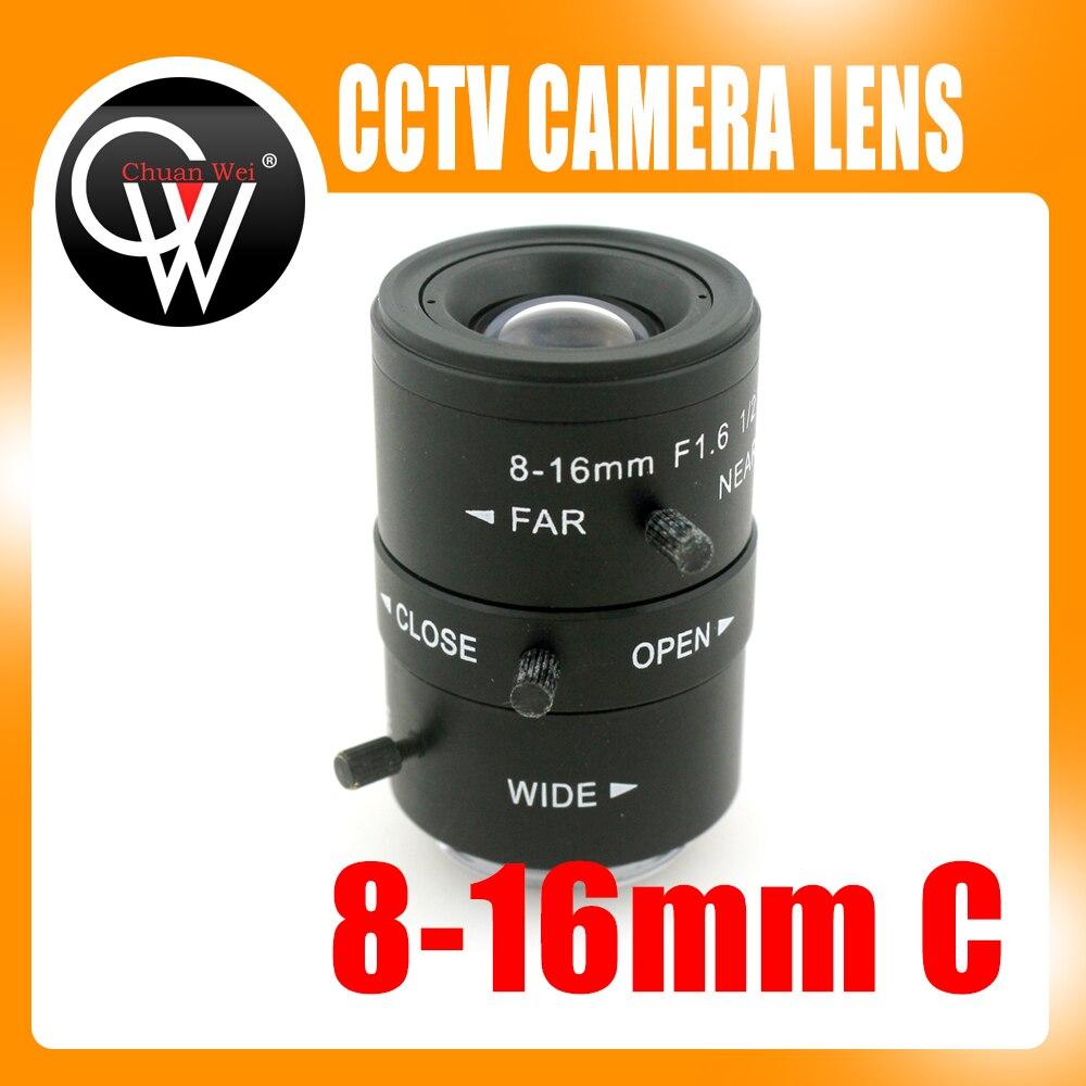 8-16mm LENS C Mount Mega Pixel HD Industrial lens Vari-Focal Manual Iris CCTV Lens For CCTV Camera <br>