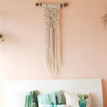 Nordic wind wall Cafe soft outfit Bohemia hand woven tapestry Macrame Wall Hanging Decoration Wall Art Handmade Tapestry(China)