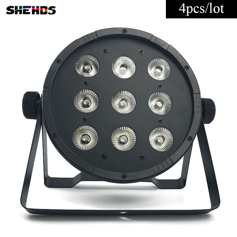 4 pcs/lot CREE 9x12W 4in1 RGBW Led Stage Light LED Flat SlimPar Quad Can With DMX512 Flat DJ Equipments Controller Fast Shipping<br>