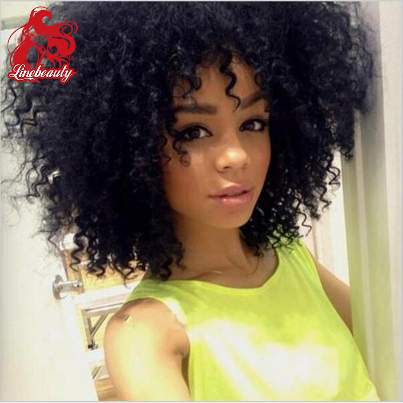 Hot! Top Quality Kinky Curly Wigs Synthetic Lace Front Wigs 180% Density Black Color Heat Resistant Synthetic Hair Wigs<br><br>Aliexpress