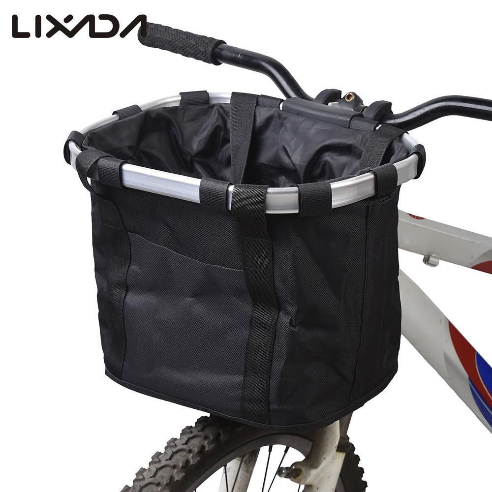 Docooler Cesta de Lona Frontal Desmontable de Bicicleta Marco de la Aleaci/ón de Aluminio del Bolso del Animal Dom/éstico de la Bici