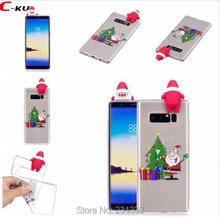 C-ku 3D Merry Christmas Tree Santa Claus Soft TPU Case For Samsung Galaxy NOTE 8 J310 J510 J710 A310 A510 S8 PLUS Deer Skin 1pcs(China)