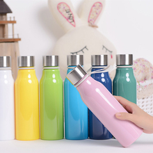 401ml~500ml Outdoor Tour Travel Portable Colorful Plastic Leak Proof Water Bottles Sport PC Soda Bottle With Rope BPA Free(China)