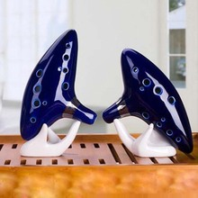 12 Hole Ocarina Instrument Ceramic Alto C Legend of Zelda Ocarina Flute Blue of Time in Box Woodwind Instruments figure toys(China)