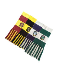 COSREA Harri Potter Scarf Cosplay Costume Cotton bandana Winter Blanket Scarves Gryffindor Slytherin Ravenclaw hufflepuff Scarf(China)