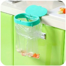 Pink Green Strong Suction Cup Clamshell Garbage Bags Fixed Shelving Home Portable Kitchen Sink Storage Rack