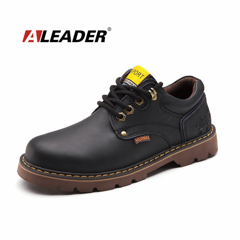 Waterproof Autumn/Winter Casual Mens Leather Oxfords Fur Shoes Outdoor 2015 Work Shoes Footwear Sapatilha<br>