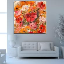 Rose Flower Abstract Canvas Spray Oil Painting Home decor Frameless drawing Artist Scarf not handmade picture art kitchen