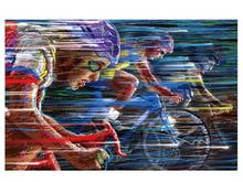 G0216 Living Room  Wall Stickers bike,race,speed,color,cycling Bedroom Wall Decorative Poster