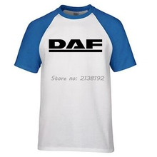 DAF Trucks Man T-Shirt Raglan Brand Clothing Car Brand Logo Homme T Shirt Men Clothes High Quality Cotton top tees(China)