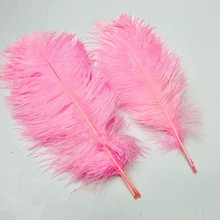 Popular 10PCS Ostrich Feather 15-20cm  Wedding Decoration Party Plumage Decorative Celebration Pink  Free Shipping