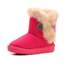2017 KIDS Winter Fashion child girls snow boots shoes warm plush soft bottom baby girls boots winter snow boot for baby(China)