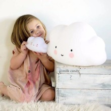 Small Clouds Smile Face Light Emitting Children Baby Kids Bedroom Cute Decoration Atmosphere Night Light 2017 Top Sale(China)