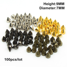 7*9.5mm Rivets mix color Metal studs and spikes for Clothings 100pcs/bag silver,gold,black,Bronze