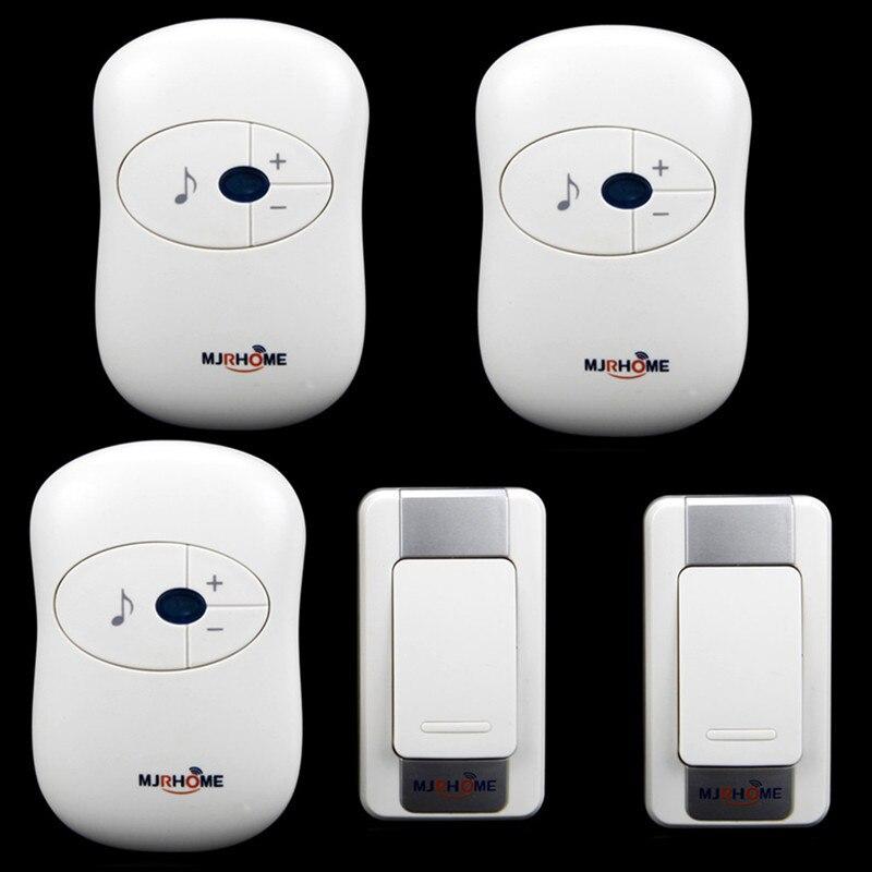 High Quality  Wireless Doorbell Waterproof DC battery 300m remote control Door Bell 2 transmitter+ 3 receiver<br>