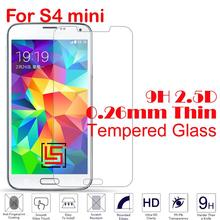 0.26mm 2.5D 9H Hardness Tempered Glass Phone Mobile Cell Front Film Screen Ecran Protector Guard For Samsung Galaxy S4 mini