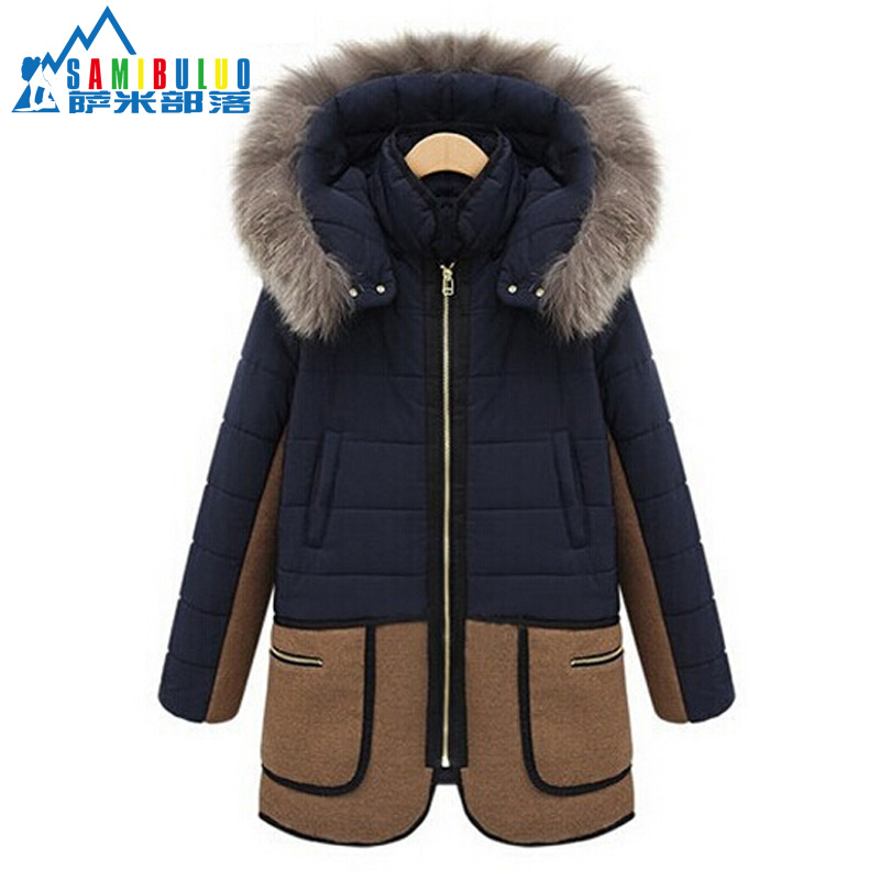 2015 New Parka Coat Women Autumn Winter Outerwear Cotton-Down Fur thicken Coat Female Overcoat JacketОдежда и ак�е��уары<br><br><br>Aliexpress