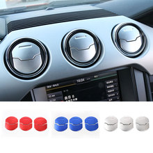 Car Styling 6Pcs/Set Interior Moulding Dashboard Air Vent Outlet Decoration Cover Sticker for Ford Mustang 15 up Aluminium New