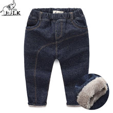 I.K Boys Winter Pants Solid Plus Velvet Warm 2017 Fashion Cotton Long Trousers Children Baby Boy Kids Pants Bobo Choose PT1015(China)