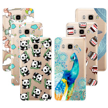 Fashion Soft TPU Case For Samsung Galaxy J7 2016 J7108 J7109 Transparent Soft Silicone Cover Phone Cases For Samsung J7 2016(China)