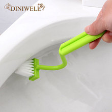 DINIWELL Family Sanitary S-type Toilet Cleaning Brush Curved Bent Handle Brush Scrubber Home Bath CleanerTools(China)