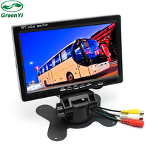 HD Digital Screen 800*480 7 Inch TFT Car Parking Monitor LCD Auto Headrest Monitor With 2 Camera Video Input