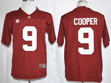 Nike 2015 Amari Cooper Diamant Quest Alabama Crimson Tide College #9 Ijshockey Jerseys Playoff Suikerpot Speciale Event Jer(China)