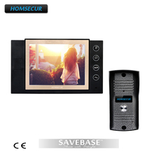 "HOMSECUR 1v1 New 8"" Video DoorPhone Doorbell Intercom Metal Shell Camera Night Vision 1 Monitor"
