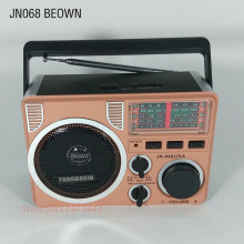Built-in Battery Nostalgic radio SW AM FM radios mp3 player Portable USB/SD/MMC/TF Speaker  With LED Lamp Outdoor Speakers