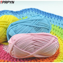 TPRPYN 100g=1Pc Fancy Yarns For Hand Knitting Thick Thread Crochet Candy-colored Cloth Yarn Ribbon Hand-knit Hat Yarn Craft Y503