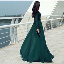 Buy JiaHuiGe 2017 Lady Turtleneck Long-sleeve Floor-length chiffon party female long maxi dress women clothing sexy dresses Sale for $22.80 in AliExpress store