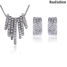 RNAFASHION Jewelry Fashion Jewelry Sets Pendants&Necklaces Women Accesories 2017 Full Of Rhinestone Kolye Bijoux Femme Jewellery