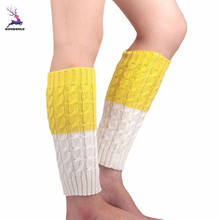DOUDOULU Women Lady Winter Knitted Leg Warmers Socks Boot Cover Leg Boots Warmer Cover Snowflaker Drop shipping