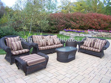 2014 Wicker rattan furniture natural pe rattan vintage rattan sofa set