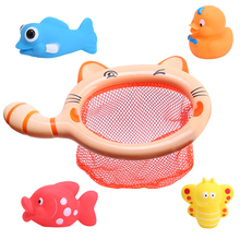 1 Sets Fishing Toys Network Bag Pick up Duck & Bee & Fish Kids Toy Swimming Classes Summer Play Water Bath Toy(China)
