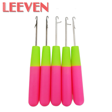 Leeven Fashion Hook Needle Handle High Quality Crochet Needle Braids Hair and Dreadlocks Needle Accessoires Tools 10 Pieces/lot