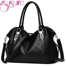 Gusure Designer Women Handbag Female PU Leather Bags Handbags Ladies Portable Shoulder Bag Office Ladies Hobos Bag Totes