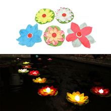 Hot 1PC Floating Lotus Lanterns Lotus Water Lamp Wedding Party Decorations Paper Flower Light Drifting Blessing