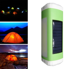 Portable Outdoor LED Caixa De Som Solar Bluetooth Speaker Wireless Stereo Subwoofer Support FM TF Card for phone Bicycle Hiking